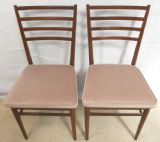 SOLD - Pair 1960's Teak Side Chairs by Meredew
